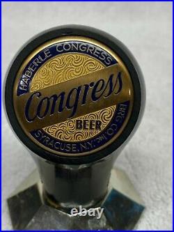 1940's Haberle Congress Beer Advertising Tap Handle Knob Syracuse New York