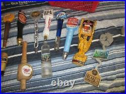 20 Beer Tap Handle Knob Keg MILLER SCHLITZ SHINER SPRECHER SAM ADAMS GUINNESS