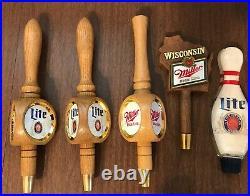 27 Miller Lite High Life Michelob Coors Strohs Leinenkugal Beer Tap Handles LOT