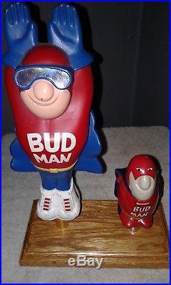 2 Budweiser Bud Man Beer Tap Handles