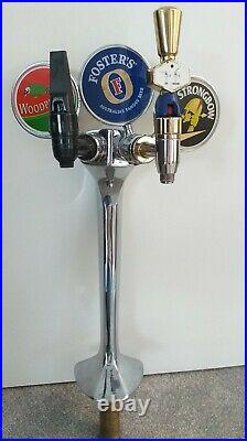 2 Tap Fosters Strongbow, woodpecker Beer Pump/font and Handle Home Bar Mancave