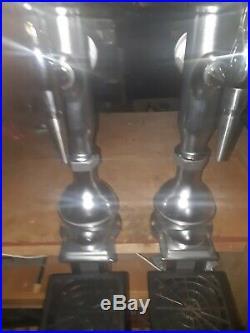 2 X Chrome Beer Pumps /fonts Taps And Handles Pub Beer Dispense