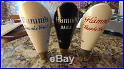 3 Hamm's Beer Knob Tap handle