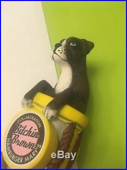 4 Paws Brewing Bitchin Brown Beer Tap Handle Rare Figural Dog Beer Tap Handle