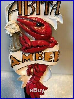 ABITA AMBER beer tap handle. Abita, Louisianna