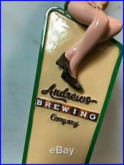 ANDREWS BREWING PIN UP GIRL beer tap handle. NORTH CAROLINA