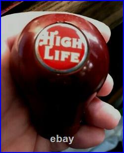 A Vintage Miller High Life Beer Brewing Ball Tap Knob / Handle Milwaukee Wi