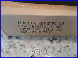 Alaskan Pale Ale 3D Canoe and Oars Figural Beer Tap Handle New In Box NEVER USED