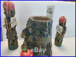 Angry Orchard Crisp Apple Draft Beer Keg Bar Tap Handle Rare Tip Jar Lot Set