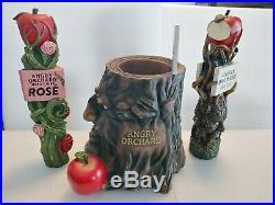 Angry Orchard Crisp Apple Rose Draft Beer Keg Bar Tap Handle Rare Tip Jar Set