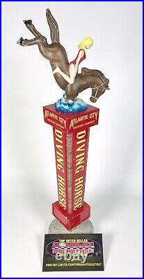 Atlantic City Brewing Company Diving Horse IPA Beer Tap Handle 12.5 Tall RARE