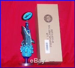 BRAND NEW IN BOX BEAUTIFUL DOGFISH HEAD 2013 TAP HANDLE SHARK withCOASTERS & STAND