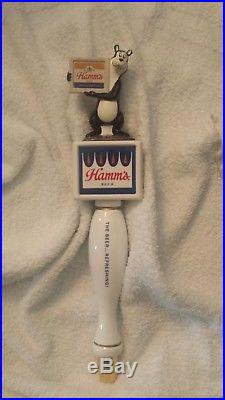 BRAND NEW IN THE BOX HAMMS BEER BEAR TAP HANDLE original brewery issue