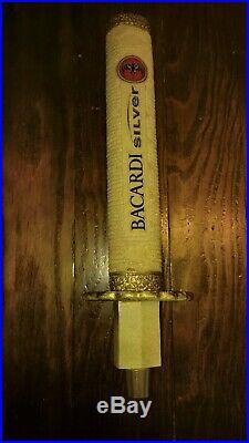 Bacardi silver Samurai Sword Beer Tap Handle Rare