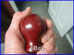 Ball tap knob, tap knob, tap handle, Cincinnati Beer, Red Top, irtp label, Ohio