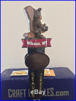 Beaver Creek Brewery Beaver Otter Drinking Beer Rare Figural Beer Tap Handle