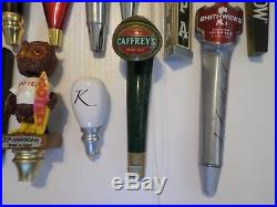 Beer Keg Tap Handle Lot of 14 Different Some Rare Stone Redd Heineken Killian's