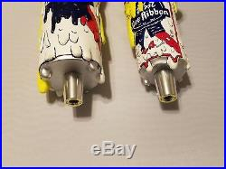 Beer Keg Tap Handle Lot of 2 PBR Pabst Blue Ribbon Pizza Old & New Style