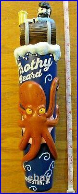 Beer Tap Frothy Beard Octopus Handle Brand New in Original Box