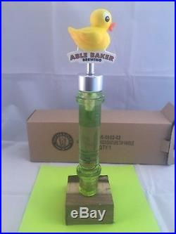 Beer Tap Handle Able Baker Brewing Beer Tap Handle Rare Figural Rubber Duck Tap