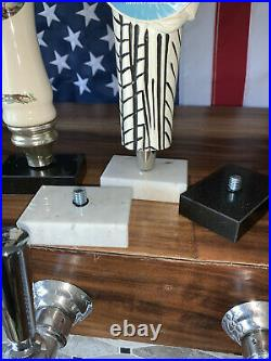 Beer Tap Handle Base Display Stand withBolt, Genuine Black Marble Size 2 x 3