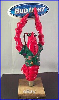 Beer Tap Handle Bud Light Lobster Beer Tap Handle Rare Figural Beer Tap Handle