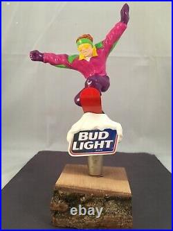 Beer Tap Handle Bud Light Snowboarder Beer Tap Handle Rare Figural Tap Handle A
