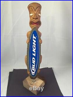 Beer Tap Handle Bud Light Tiki Beer Tap Handle Rare Figural Beer Tap Handle