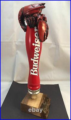 Beer Tap Handle Budweiser Lobster Beer Tap Handle Rare Figural Beer Tap Handle