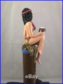 Beer Tap Handle Gingers Poi-fect Lei IPA Rare Figural Girl Beer Tap Handle Tiki