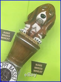 Beer Tap Handle Happy Basset Brewing Beer Tap Handle Figural Dog Beer Tap Handle
