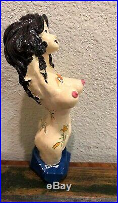 Beer Tap Handle Lady Luck Brewing Beer Tap Handle Rare Figural Sexy Girl Tap