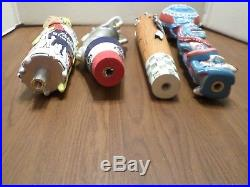 Beer Tap Handle Lot 4 Rare PBR Pabst Blue Ribbon Art Series Unicorn Octopabst