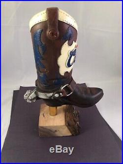 Beer Tap Handle Original Coors Cowboy Boot Beer Tap Handle Rare Figural Beer Tap