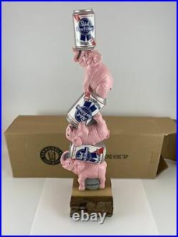 Beer Tap Handle Pabst Pink Elephant Beer Tap Handle Figural PBR Beer Tap Handle
