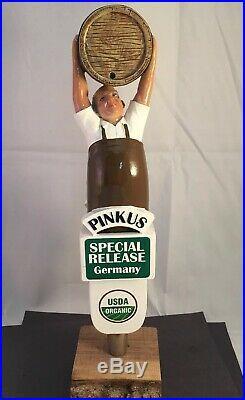 Beer Tap Handle Pinkus Brau-Weisse Beer Tap Handle Rare Figural Beer Tap Handle