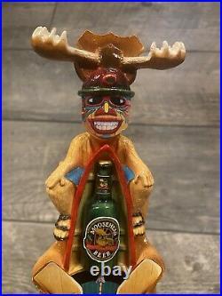 Beer Tap Handle Rare Camp Moosehead Totem Pole Mint
