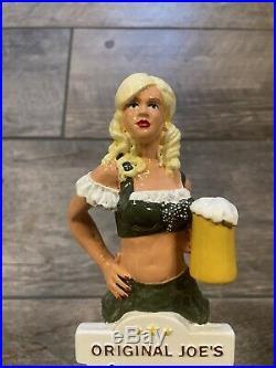 Beer Tap Handle Rare Original Joe's Haus Frau Pil Girl Figural Mint Blonde