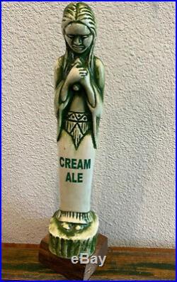 Beer Tap Handle Shaftebury Cream Ale Beer Tap Handle Rare Figural Girl Beer Tap