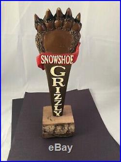 Beer Tap Handle Snowshoe Grizzly Beer Tap handle Rare Figural Bear Tap Handle