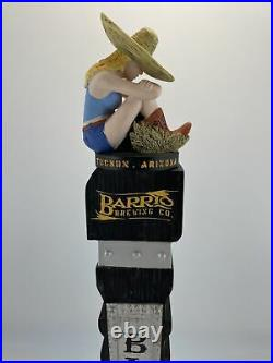 Beer Tap Handle Sonoran Barrio Blonde Beer Tap Handle Figural Girl Tap Handle