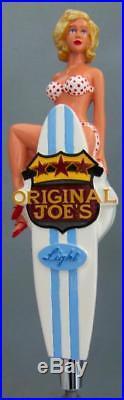 Beer Tap Handle Very Rare Original Joe's Light Bikini Girl Surfboard Figural Exc