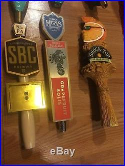 Beer Tap Handle lot Set of 31 Beer Tap Handles Used Nice See Pics