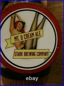 Beer Tap Stark Mt U Cream Ale Redhead Handle Brand New
