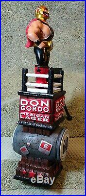 Beer tap handle gordon biersch Don Gordo Lucha Libre 10.5 new in box