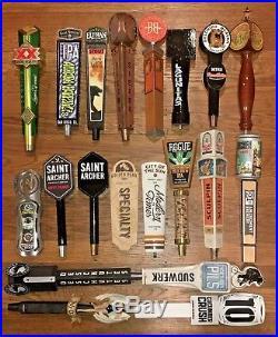 Beer tap handle lot, 20 knobs