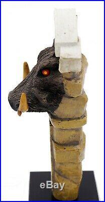 Big Rock Warthog Figural Beer Tap Handle