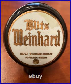Blitz Weinhard beer ball knob Portland Oregon tap marker handle vintage brewery