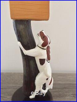 Braman Walker Hound Dog Running Walker Bobcat Lion Chase Figural Beer Tap Handle