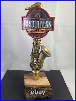 Brothers Golden Ale Beer Tap Handle Rare Figural Saxophone Beer Tap Handle